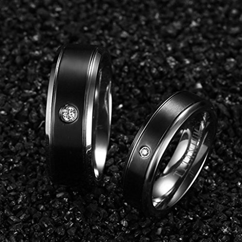 xiangling jewelry 2pcs titanium ip black matte finished black titanium wedding bands sets for. Black Bedroom Furniture Sets. Home Design Ideas