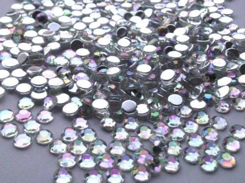 crystals gems uk 500 x 5mm klasse a ab klar flache r ckseite diamant acryl kristall edelsteine. Black Bedroom Furniture Sets. Home Design Ideas