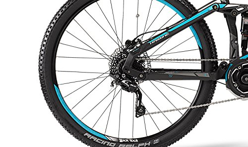 Haibike SDURO FullNine RC E-Bike Elektofahrrad 10-G SLX 11Ah 400Wh E-Mountainbike schwarz/cyan/weiß matt 2015 (RH 50-29 Zoll)