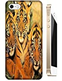 Lovely Power Tigers Cases Covers Phone Hard Back Cases Beautiful Nice Cute Animal hot selling cell phone cases for Apple Accessories iPhone 5C # 8