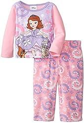 Disney Sofia the First Baby Girls' Princess Microfleece 2 Piece Pajama Set