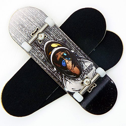 P-Rep-Space-Monkey-30mm-Graphic-Complete-Wooden-Fingerboard-w-CNC-Lathed-Bearing-Wheels