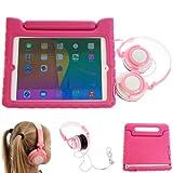 UltimateAddons Pink Eva Foam Protective Case with Handle + Pink Headphones for Apple iPad Air Bundle