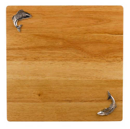 Grasslands Road Lakeside Wooden Cutting Board, 11-Inch