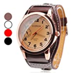 Men's PU Analog Quartz Wrist Watch (A...