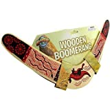 Rhode Island Novelty Wooden Boomerang Colors May Vary (Color: Assorted, Tamaño: ONE SIZE FITS ALL)