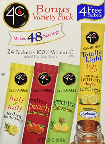4C Totally Light Tea 2 Go Bonus Variety Pack Ice Tea Mix, 24-Count Boxes (Pack of 3) (4c Iced Tea Mix compare prices)