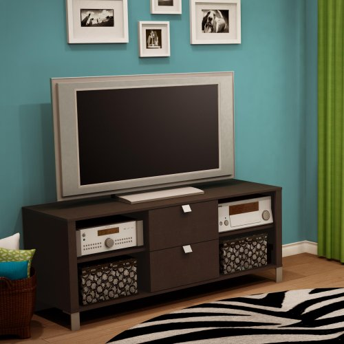 510c3xVt71L South Shore, Cakao Collection, TV Stand, Chocolate