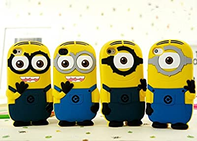 Cute Despicable Me 2 for Minions Soft Gel Rubber Silicone Phone Protection Case Cover for Iphone 5 5s from CASE5s
