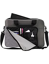 "13"" Padded Notebook Briefcase With Port And Organizer (Black) By BAGS FOR LESSTM"