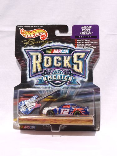 Hot Wheels Racing - NASCAR - Rocks America - Penske-Kranefuss Racing/Mobil 1 - #Ford Taurus (black/orange/white) replica with bonus die-cast guitar (1999)