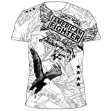 "AMERICAN FIGHTER ""NEVER ACCEPT DEFEAT"" MMA SHIRT SIZE XX-LARE"