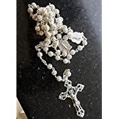 United In Love: Made In ITALY Beautiful ROSARY Beads Rosaries (2 GRAMS PURE SILVER Mixed In All The Silver Alloy...