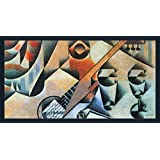 Banjo (guitar) And Glasses By Juan Gris - ArtsNyou Printed Paintings - B00QA17GPA