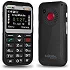 Snapfon ezTWO3G Senior Cell Phone, SIMPLE and Easy to Use, SOS Button, Hearing Aid Compatible, UNLOCKED GSM