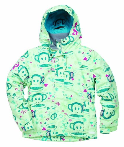 Paul Frank Girls' Julius Sketch Insulated Jacket (Mint, Large)