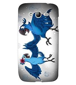 ColourCraft Love Parrots Design Back Case Cover for SAMSUNG GALAXY GRAND NEO PLUS I9060I