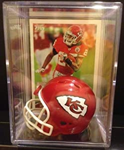 Kansas City Chiefs NFL Helmet Shadowbox w  Jamaal Charles card by Riddell