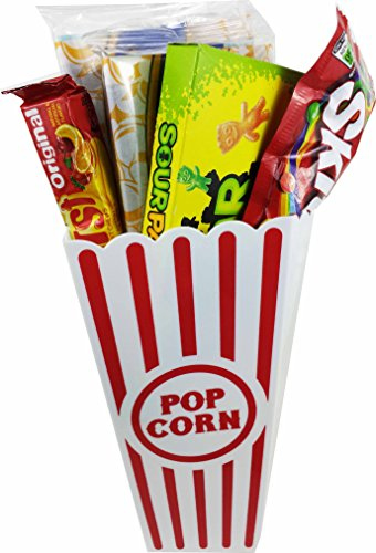 Movie Night Popcorn and Candy Gift Basket ~ Includes Movie Theater Butter Popcorn and Concession Stand Candy (Sour Patch Kids) (Concession Snacks compare prices)