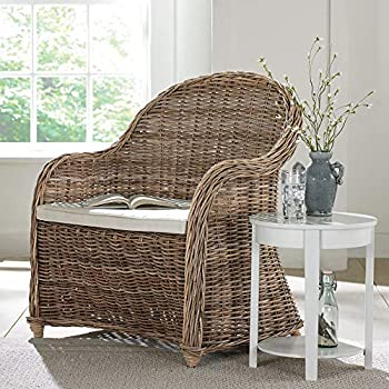 BrylaneHome Whitman Oversized Wicker Chair