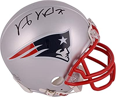 Vince Wilfork New England Patriots Autographed Mini Helmet - Fanatics Authentic Certified - Autographed NFL Mini Helmets