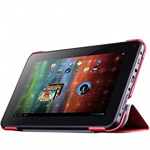 Prestigio Leather Case with Integrated Stand for 7 inch MultiPad - Red