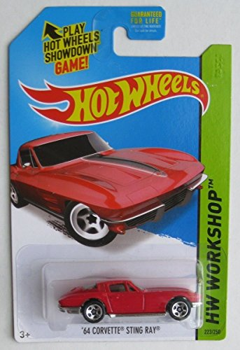 2014 Hot Wheels Hw Workshop - '64 Corvette Sting Ray - Red