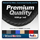 Premium Grade (1030 gr/m2) Black Car Mats with Black Edge for Toyota Celica (1999 - 2006) - - In a choice of 8 colours