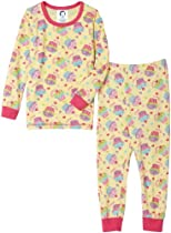 Gerber Yummy Cupcake Cotton PJs Two Piece, Butter, 24 Months