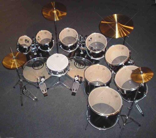 drum sets hb drums11 pc double bass drum set complete super sale popular pvc colors deep ocean. Black Bedroom Furniture Sets. Home Design Ideas