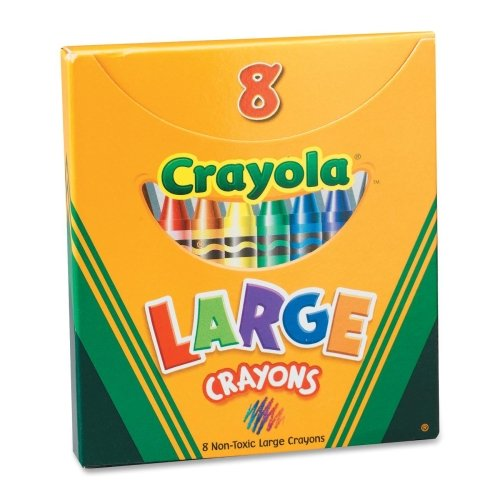 Wholesale Case Of 25 - Crayola Superior Quality Large Crayons-Large Crayons, Tuck Bx, Permanent/Waterproof, 8/Bx, Ast front-1025267
