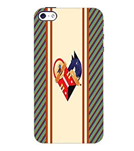 PrintDhaba Heart D-3213 Back Case Cover for APPLE IPHONE 5S (Multi-Coloured)
