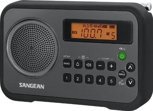 Sangean PR-D18BK Portable Digital Radio (Black/Grey)