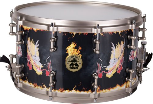 ddrum Vinnie Paul Signature 8x14 Maple Snare Drum with Custom Dragon Graphic