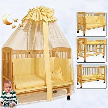 pas cher lit de voyage b b enfant multifonction couchette r glable avec ciel moustiquaire et. Black Bedroom Furniture Sets. Home Design Ideas