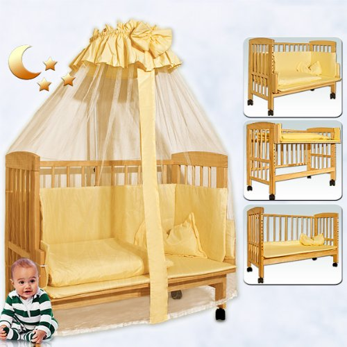 Wooden baby cot bed nursery furniture baby cotbed toddler bed with matress