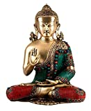 GATHBANDHAN Lord Buddha in Bhumisparsha Mudra - Brass Statue