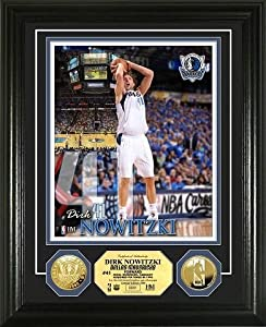 Dallas Mavericks Dirk Nowitzki Gold Coin Photo Mint by BULLION INTERNATIONAL