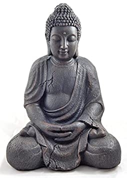 1 bouddha statue tr s tr s grande 41 5cm jardin pour int rieur et ext rieur statuette. Black Bedroom Furniture Sets. Home Design Ideas