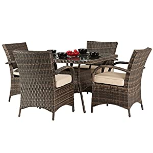 4 seater patio furniture set dallas 4 seater rattan dining set brown rattan garden - Garden Furniture 4 Seater Sets