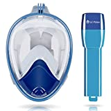 UPGRADED Design Snorkeling Mask 180?? Wide View Surface Diving Full Face Goggles Anti-fog Leak Proof Breath Easily Snorkel for Tropical Sea Trip, Coral Reef Tour