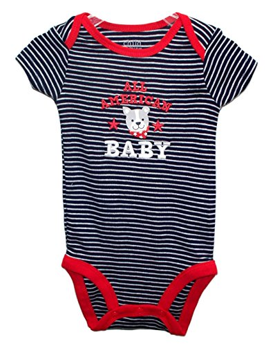 4Th Of July Embroidered All American Baby Bodysuit Dress Up Outfit (6-9 Months) front-138948