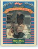 1991 Kellogg's Baseball Greats #3 Willie Mays - New York Giants (3-D Sportsflics) (Baseball Cards)