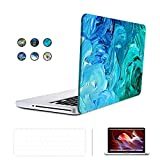 SUNKY Pro 13-inch 3 in 1 Soft-Touch Hard Rubberized Case Cover, Silicone Keyboard Protective Skin, LCD Screen Protector for Macbook Pro 13.3
