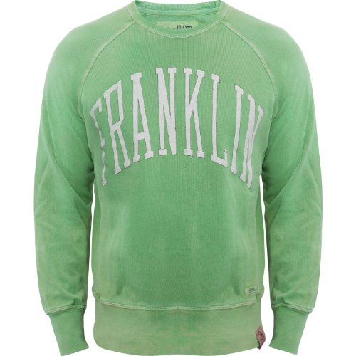 Franklin & Marshall Mens Vintage Acid Wash Green Jumper New 2013 Range! FLMR661 Green Medium