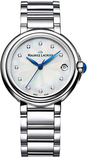 Maurice Lacroix Fiaba Round FA1004-SS002-170 Reloj de Pulsera para mujeres con diamantes genuinos