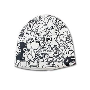 Mens Bioworld Super Mario Bros. Collage Printed Beanie Hat