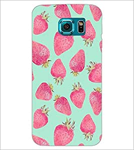 PrintDhaba Strawberries D-1452 Back Case Cover for SAMSUNG GALAXY S6 EDGE (Multi-Coloured)