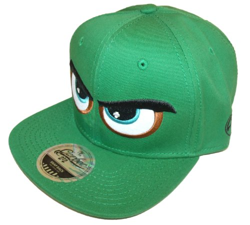 Angry Eyes-Cappello con visiera e chiusura regolabile verde verde