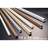 """1m Kabelkanal 19x16mm (Innenma�) selbstklebend (Verbinder verf�gbar), Farbe:grauvon """"netproshop"""""""